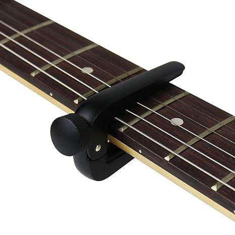 rahano una sola mano cambio rápido guitarra Capo, evitar Rub clave de abrazadera de cuerdas
