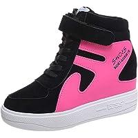 Chaussures Femme LuckyGirls Femme Baskets Chaussures de Running Sport Mode Chaussures Casual Marcher Respirantes Compensées Femme Gym Fitness Sneakers