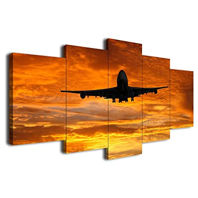 Sunset View Canvas Poster Art Picture Prints Home Wall Hanging Decor