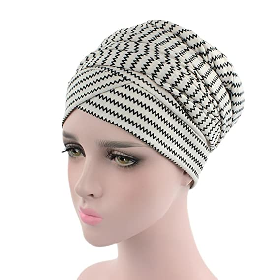 Yesmile Sombrero♢Mujer India Musulmana Elástica Turbante Imprimir Largo  Sombrero de Cola Cabeza Bufanda Wrap (Talla única 9367b2410da