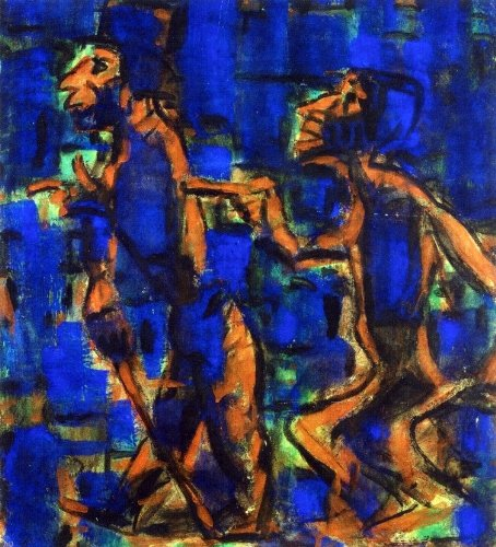 Art Oyster Christian Rohlfs Two Gypsies - 20.1'' x 25.1'' 100% Hand Painted Oil Painting Reproduction by Art Oyster