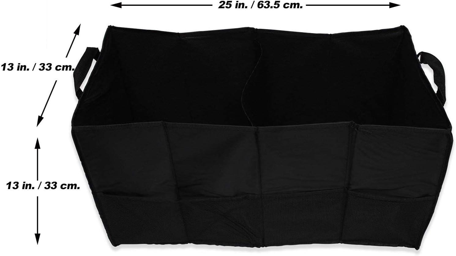 EASYVIEW Expandable Car SUV Trunkster Storage Organizer Black//White Plaid