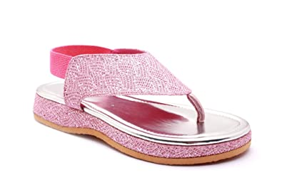70d4376efe72c8 High Step Shiny Pink Colour Girls Sandals  Amazon.in  Shoes   Handbags