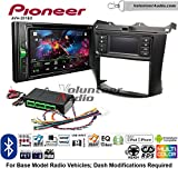 Volunteer Audio Pioneer AVH-201EX Double Din Radio Install Kit with CD Player Bluetooth USB/AUX Fits 2003-2007 Honda Accord