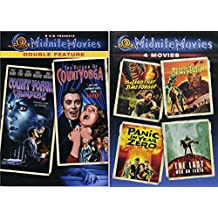Vampires & Creatures Midnite 6 Movies DVD Set Count Yorga + The Return of Count Yorga / Land That Time Forgot / People That Time Forgot / Panic in Year Zero / Last Man on Earth - Classic Horror Films