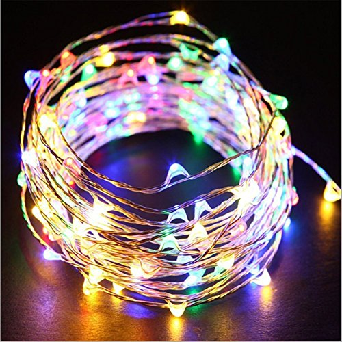 ANJAYLIA Fairy Lights, Multicolor 16.5Ft/5M 50leds Bright String Light Party Home Valentine's Day Festival Decorations Battery Operated Lights(RGB)