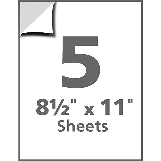 Amazon.com : Avery Peel and Stick Dry Erase Sheets, 8.5 x 11 ...