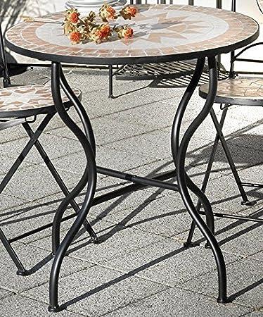 Gartentisch Rund Möbel.Gartentisch Florenza Mosaik Möbel Im Mediterrane Stil