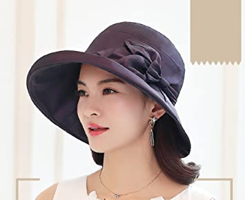 1b92d62a Image Unavailable. Image not available for. Color: FANGSHAI UV Protection  Hat Female Summer Sun Hat Korean Version Sun Protection Sun Hat Travel Beach