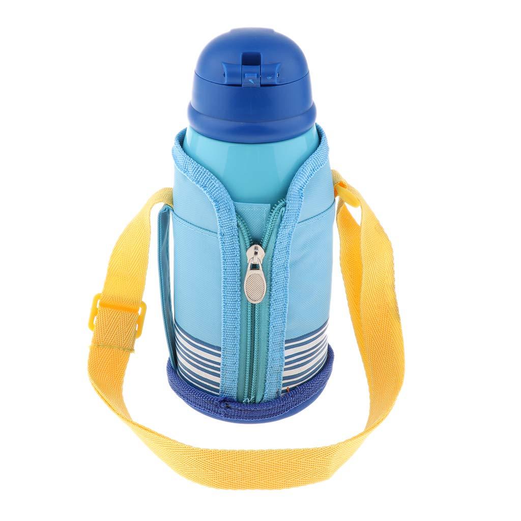 F Fityle Taza de Vac/ío de Ni/ños De Acero Inoxidable Botella De Agua Caliente Doble Aislar Cordero Individual