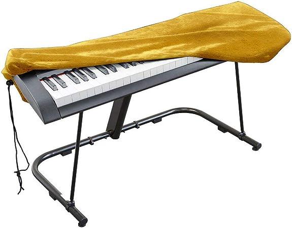 Funda para teclado de piano, funda de terciopelo elástico con ...