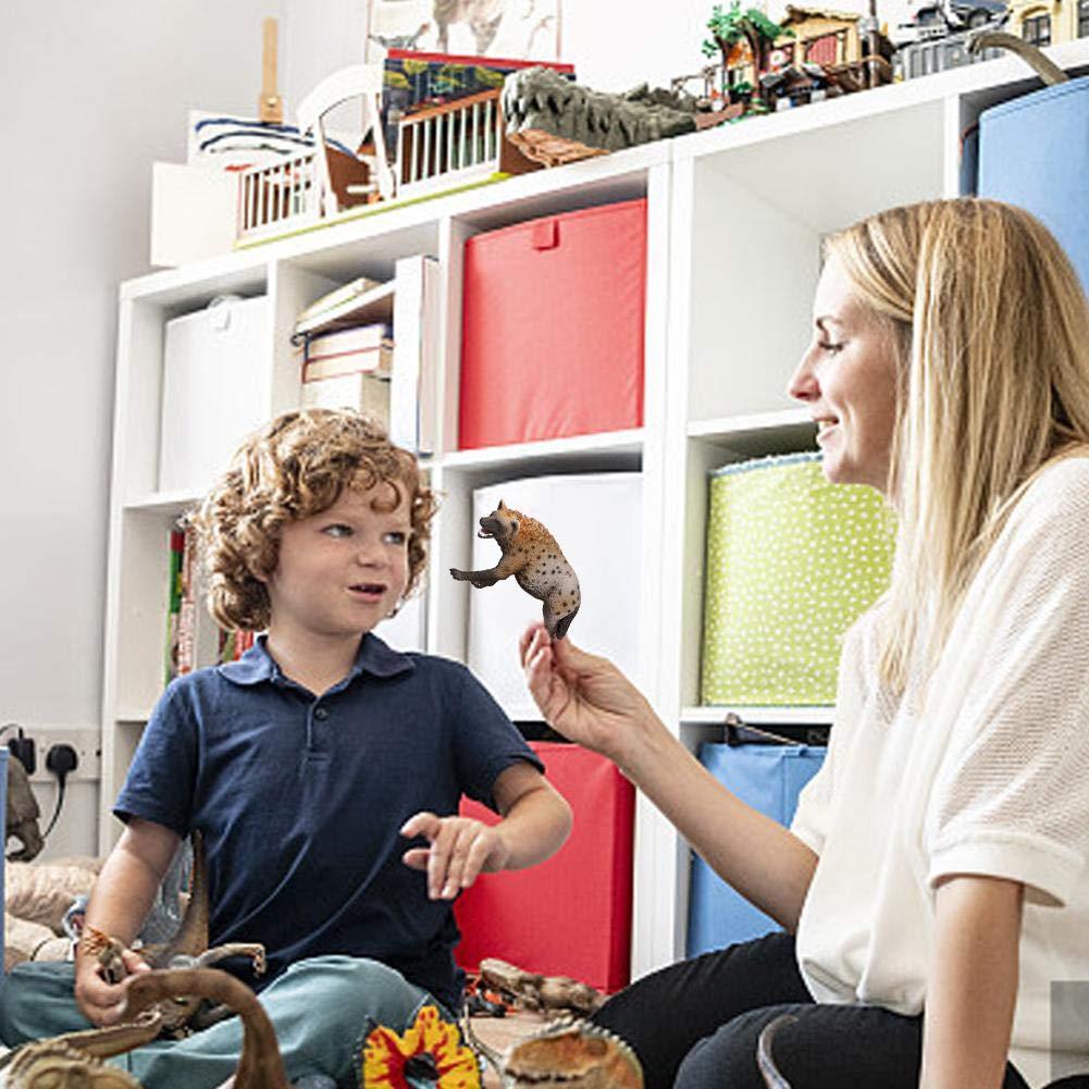 kingpo 3.4 Pulgadas Animal Salvaje Hiena Modelo de Juguete PVC Hiena Modelo Mu/ñeca Ni/ño Preescolar Mu/ñeca Juguete 14735