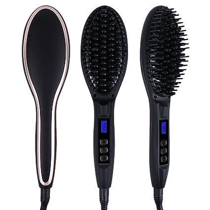 Wawoo® alisador de cabello Cepillo LCD
