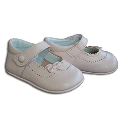 5256bc8caac7 Baby Girl s Dressy Leather Soft Sole Crib Shoes w Bow