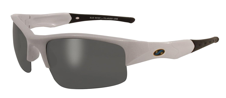 b3ad1d72fff Amazon.com   BluWater Polarized Islander 3 Line Sunglasses (Pearl White  Frame Smoke Lens