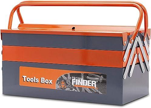 Finder QX194133 QX194133-Caja de Herramientas (Metal, 3 Niveles, 5 bandejas, 45,7 cm): Amazon.es: Bricolaje y herramientas
