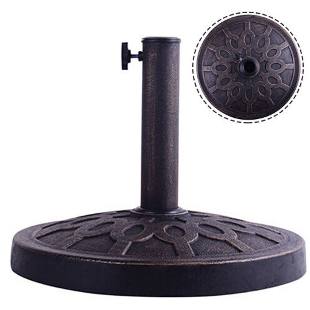 17.5'' Round Umbrella Base Stand Market Patio Standing Outdoor Living Heavy Duty