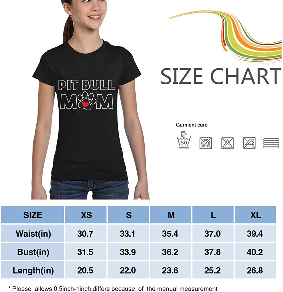 XS-XL Casual Tunic Shirt Dress L6Nv4o@A Girls Short Sleeve Pit Bull Mom Shirts