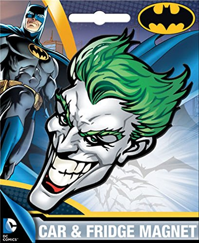 Head Car Magnet - Ata-Boy DC Comics Die-Cut Joker Head Magnet for Cars, Refrigerators and Lockers