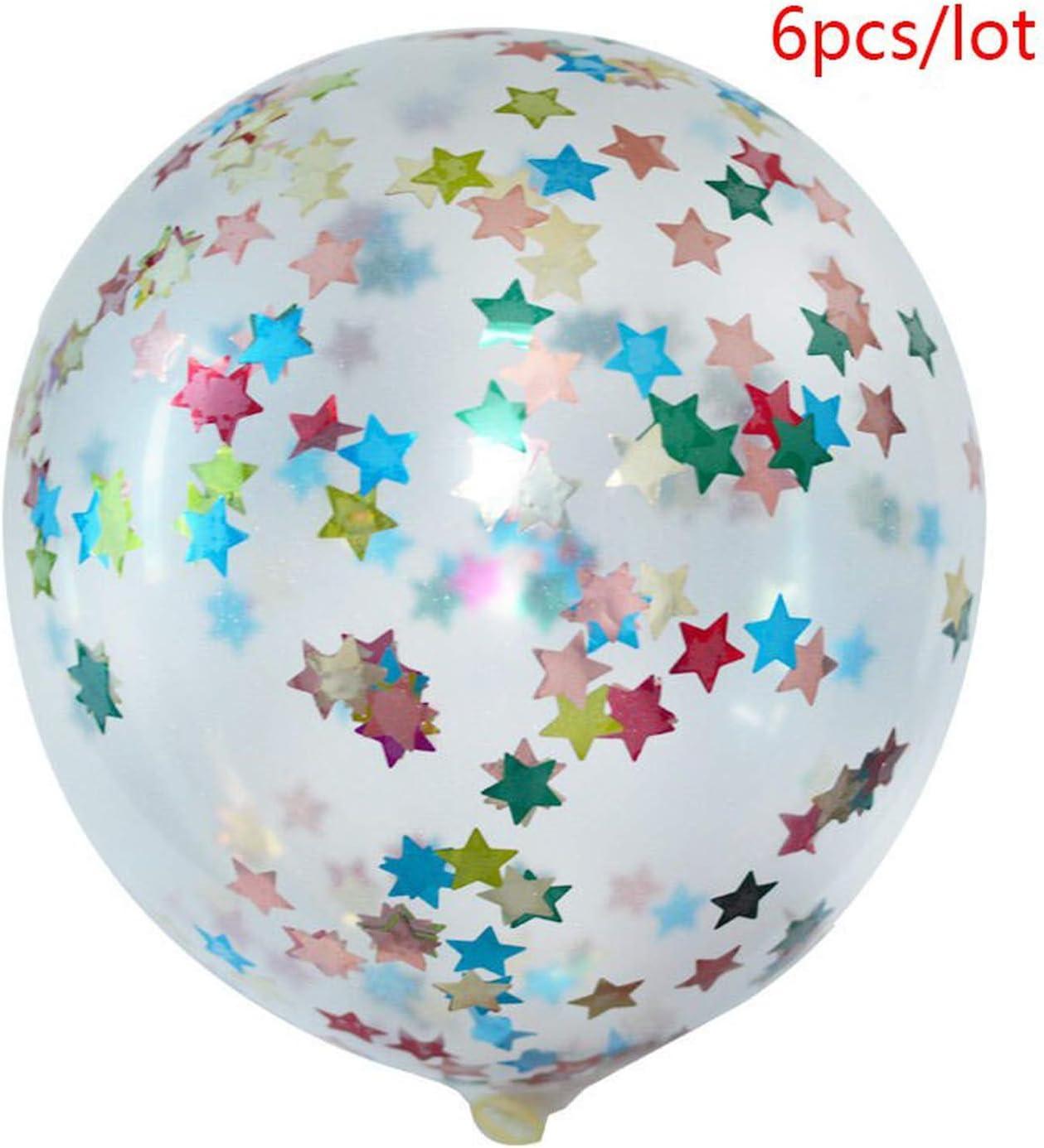 Bolones de ducha nupciales de cumpleaños | Letra Globos de Foil España Feliz Cumpleaños Feliz cumpleaños Balón de fiesta de cumpleaños decoración infantil bolas de ducha mélange 6pcs étoiles: Amazon.es: Hogar