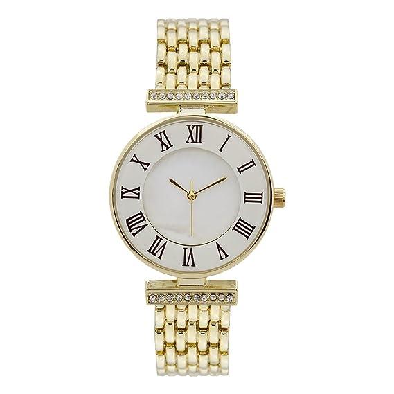 Tono de oro para mujer marca reloj número romano hora laboratorio diamantes lujo estilo cuarzo