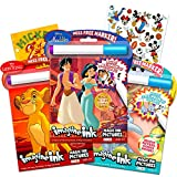 Disney Coloring Book Imagine Ink Super Set ~ 3 No Mess Magic Ink Activity Books Featuring Aladdin, Lion King, and Dumbo with Disney Mickey Mouse Stickers