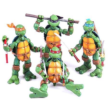 CHANG 4pcs Set Teenage Mutant Ninja Turtles Figuras De ...