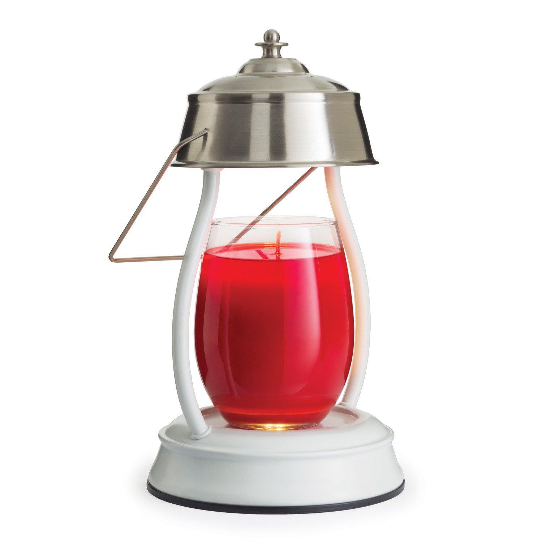 Candle Warmers Etc. Hurricane Candle Warmer Lantern, Brushed Nickel HLBN