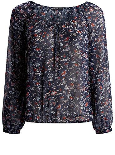 Blusa Collection con Stampata Donna Blu Laccetti 7945f oodji q6Efv1wWpf