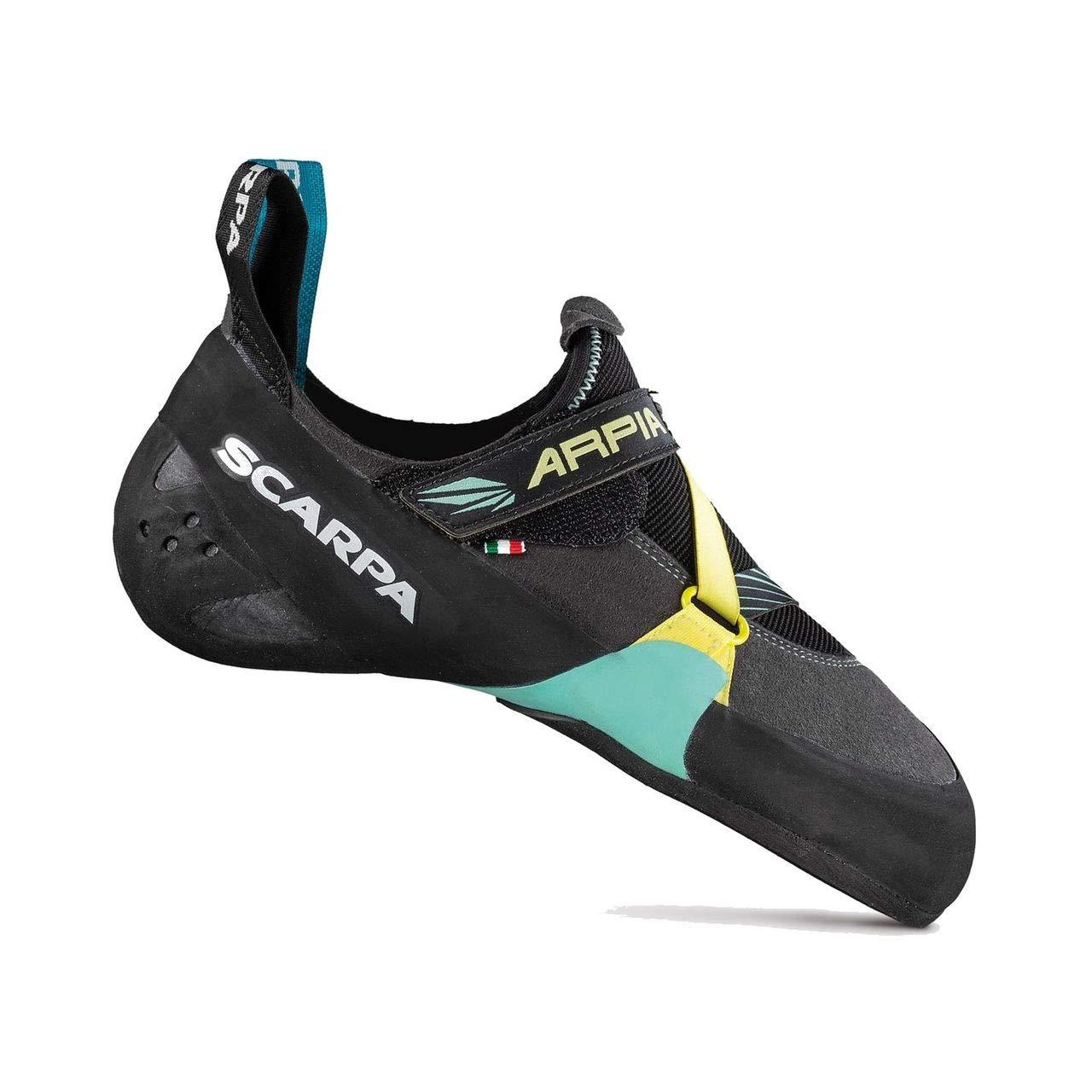 SCARPA Arpia Climbing Shoe - Women's Black/Aqua, 40.5 by SCARPA