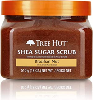 product image for Tree Hut Shea Sugar Scrub Brazilian Nut, 18oz, Ultra Hydrating and Exfoliating Scrub for Nourishing Essential Body Care (Pack of 3)
