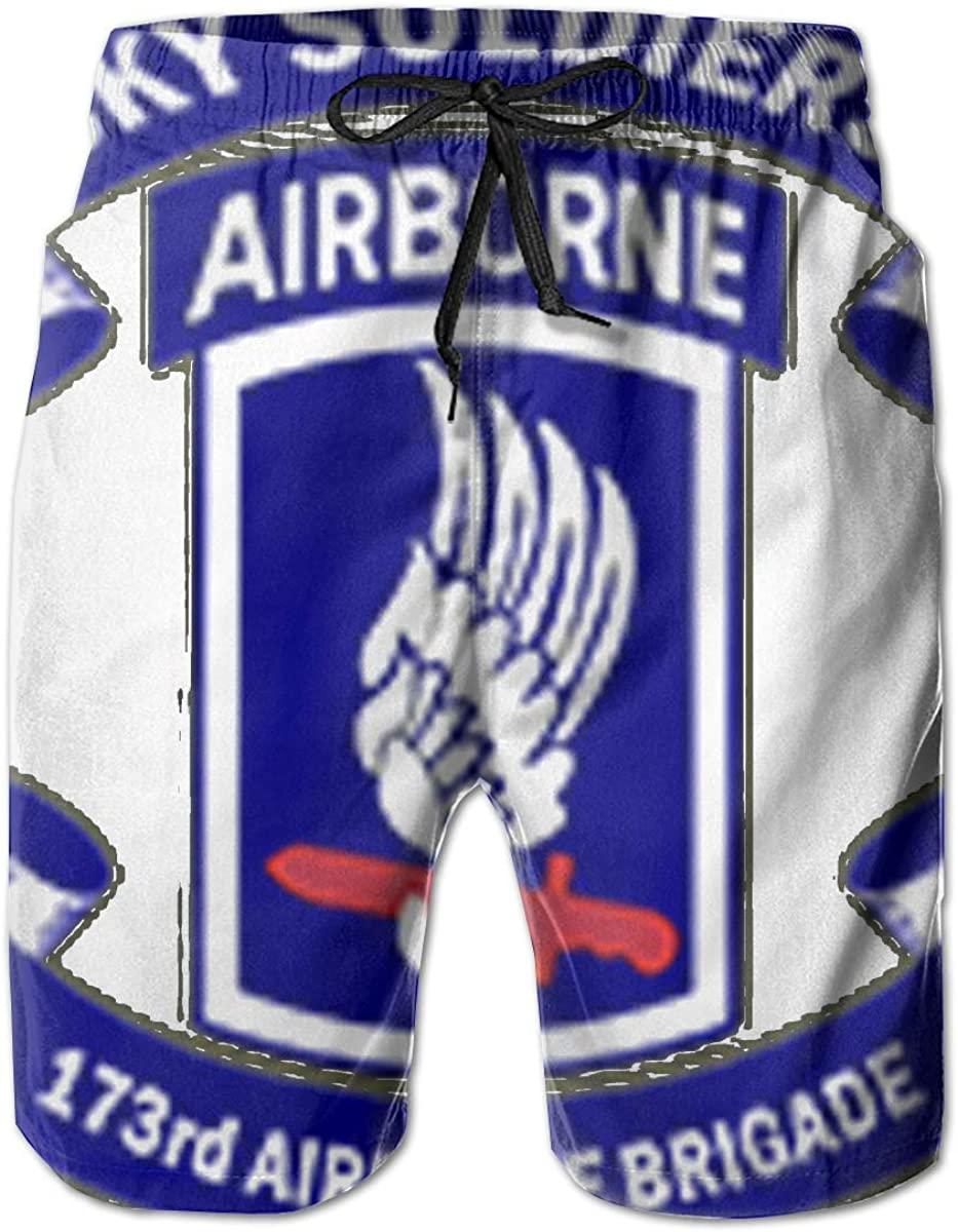 Reality And Ideals 173rd Airborne Brigade Combat Team Logo Mens Swim Trunks Board Shorts