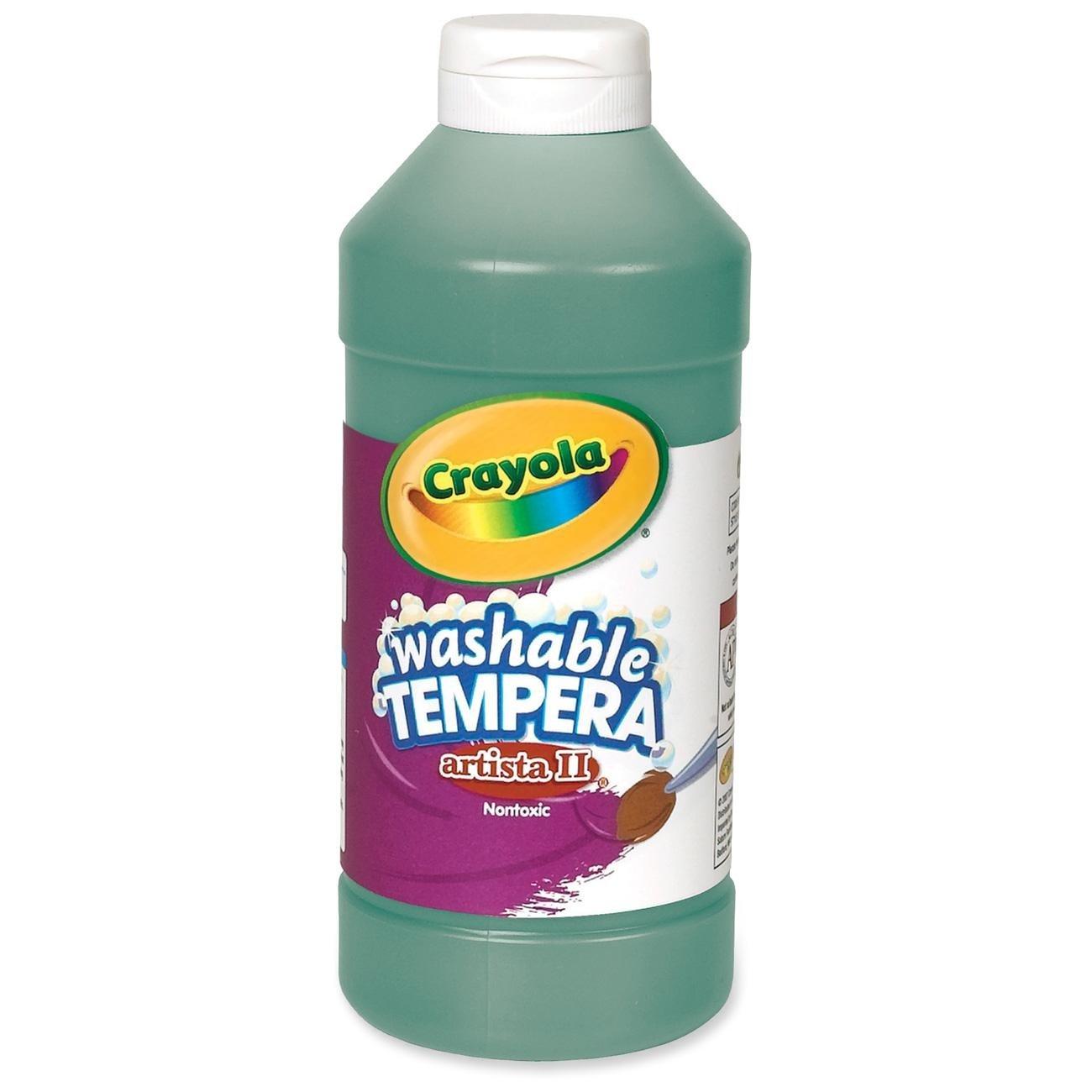 Crayola Artista II  Washable Tempera Paint, Pint, Green
