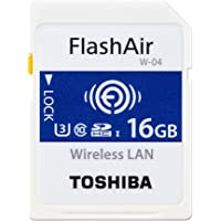 Toshiba FlashAir 4th Generation SD Wifi SDHC / SDXC memory card - 16GB (OEM Pack)