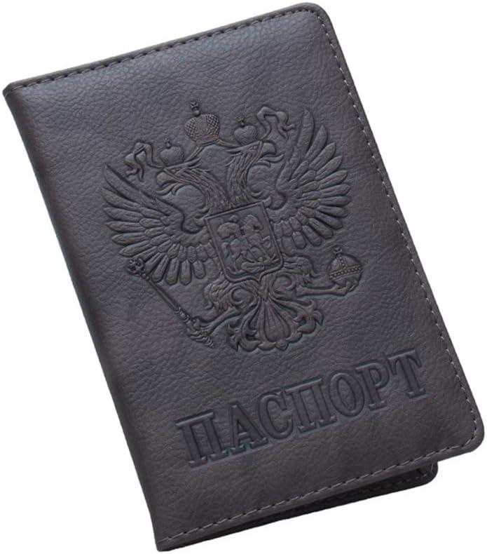 FATTERYU Russische Mode Pu-Leder Reisepass Ausweish/ülle Inhaber Fall Besch/ützer Veranstalter