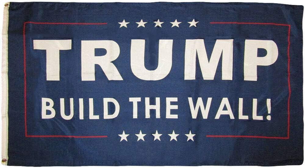 Blue 3/'x5/' Polyester Flag 3x5 Trump Build The Wall