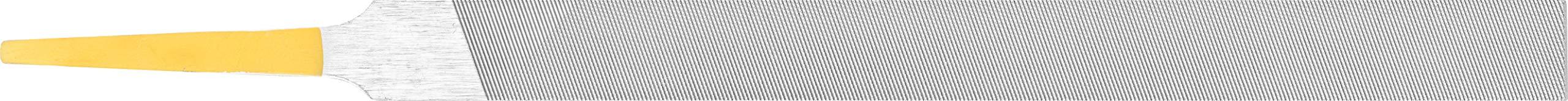 PFERD Machinist Hand File, Swiss Pattern, Double Cut, Rectangular, #0 Coarseness, 6'' Length, 1/2'' Width, 5/32'' Thickness