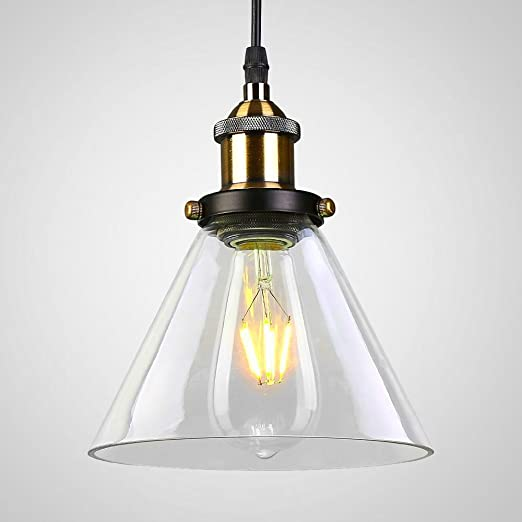 Maxmer vintage industrial cone glass pendant ceiling light metal maxmer vintage industrial cone glass pendant ceiling light metal bronze glass pendant light hanging lamp for aloadofball Image collections