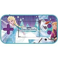Lexibook - JL2367FZ Disney Frozen Frozen Elsa Compact Cyber Arcade bärbar spelkonsol, 150 spel, LCD, batteridriven, blå