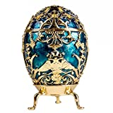 Swarovski Crystals Faberge Egg: Tsarevich Faberge Style Musical Egg Limited Edition Collectible Faberge Reproduction