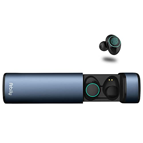 Auriculares Bluetooth Arbily Auriculares Inalámbricos Auriculares Manos Libres con Microfono y Cancelación de Ruido IPX5 a Prueba de Agua para iOS Samsung Sony con Caja de Carga Crepúsculo