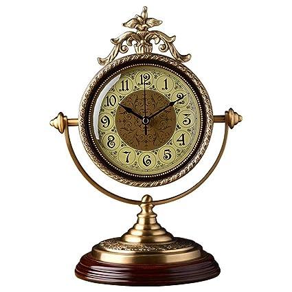 Relojes de mesa para la Sala de Estar Decoración Dormitorio Escritorio Reloj Funciona con batería Analógico