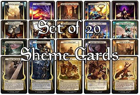 Archenemy Nicol Bolas mtg Oversized Scheme Cards Full Set of 20