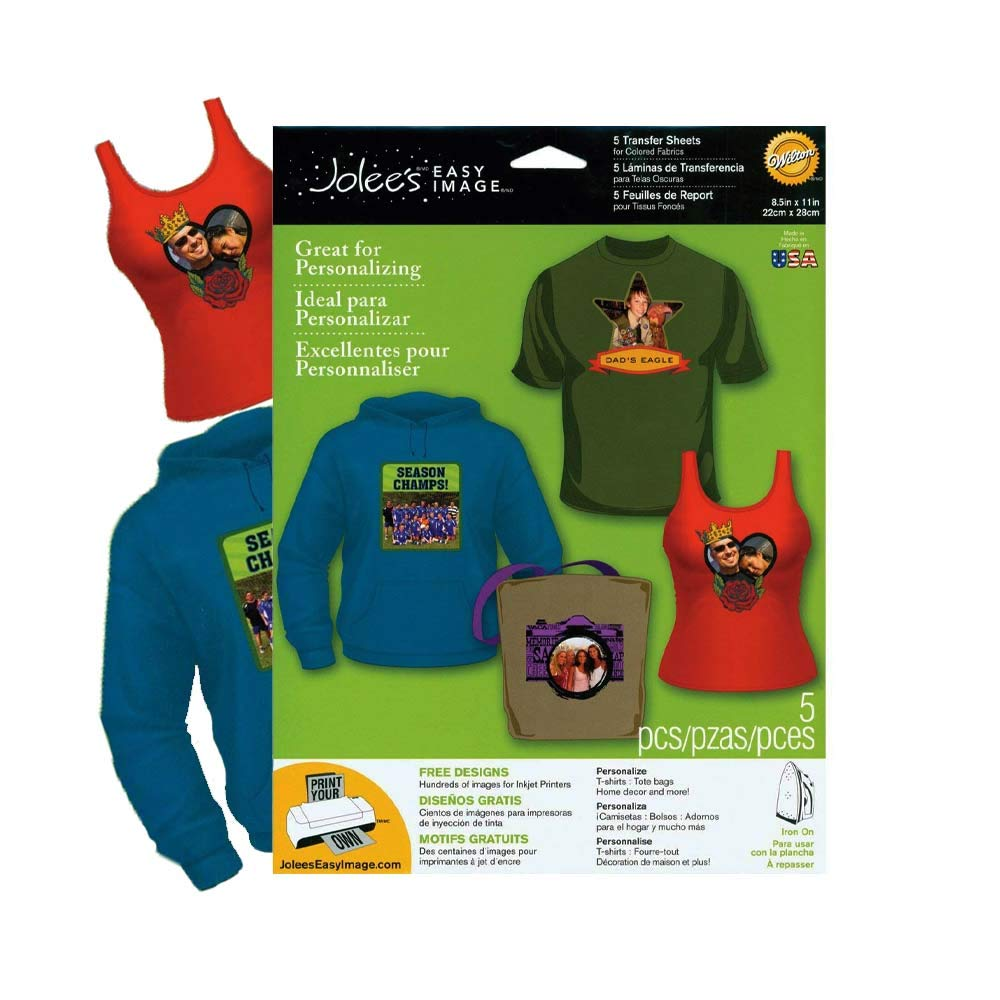 EK Success Brands Easy Image Iron-on Transfer Paper, Colored Fabrics (New Version)