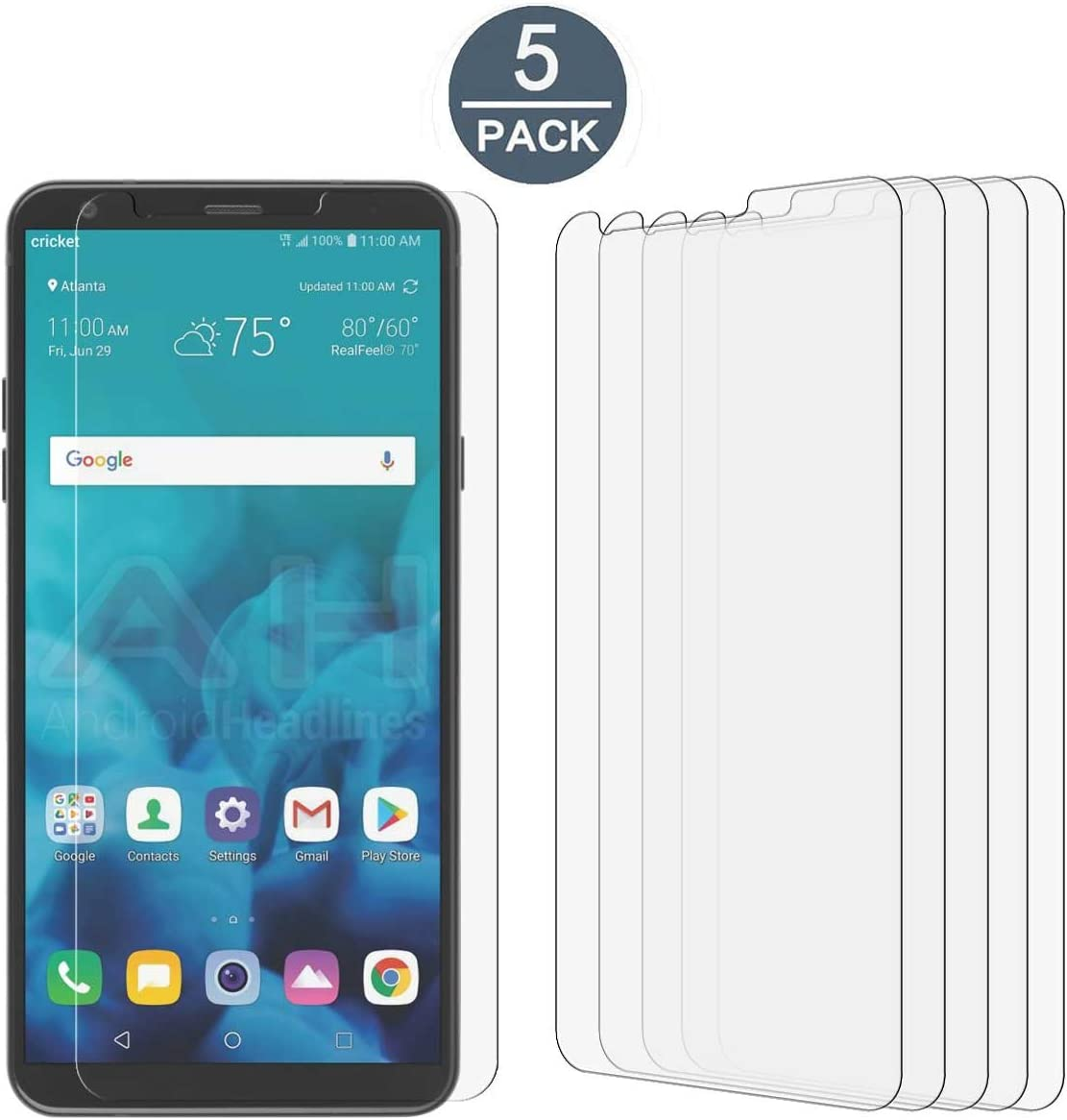 LG Stylo 4 Screen Protector Film, [5 Pack] Tonvizern High Defintion Screen Protector for LG Stylo 4 [Not Glass]