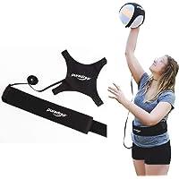 Puredrop - Equipo de entrenamiento de voleibol para entrenamiento de voleibol, ideal para la práctica individual de servir lanzas y columpios de brazos, devuelve la pelota después de cada columpio cuerda ajustable y longitud de la cintura se adapta a cualquier voleibol