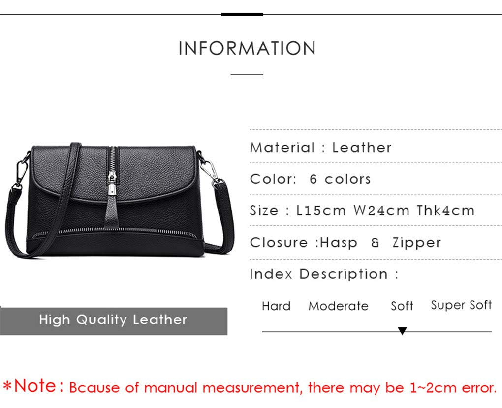 Jeenwicuoy Envelope Messenger Bags for Ladies Leather Vintage Shoulder Crossbody Bag for Women Small Clutch