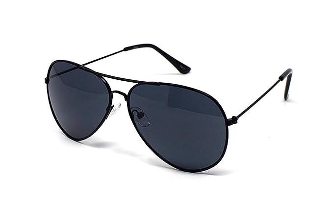 b7827be130 Black Frame Black Lenses Childrens Kids Pilot Style Sunglasses Unisex Boys  Girls Classic Shades Metal Framed UV UV400 Protection Eyewear Glasses  ...