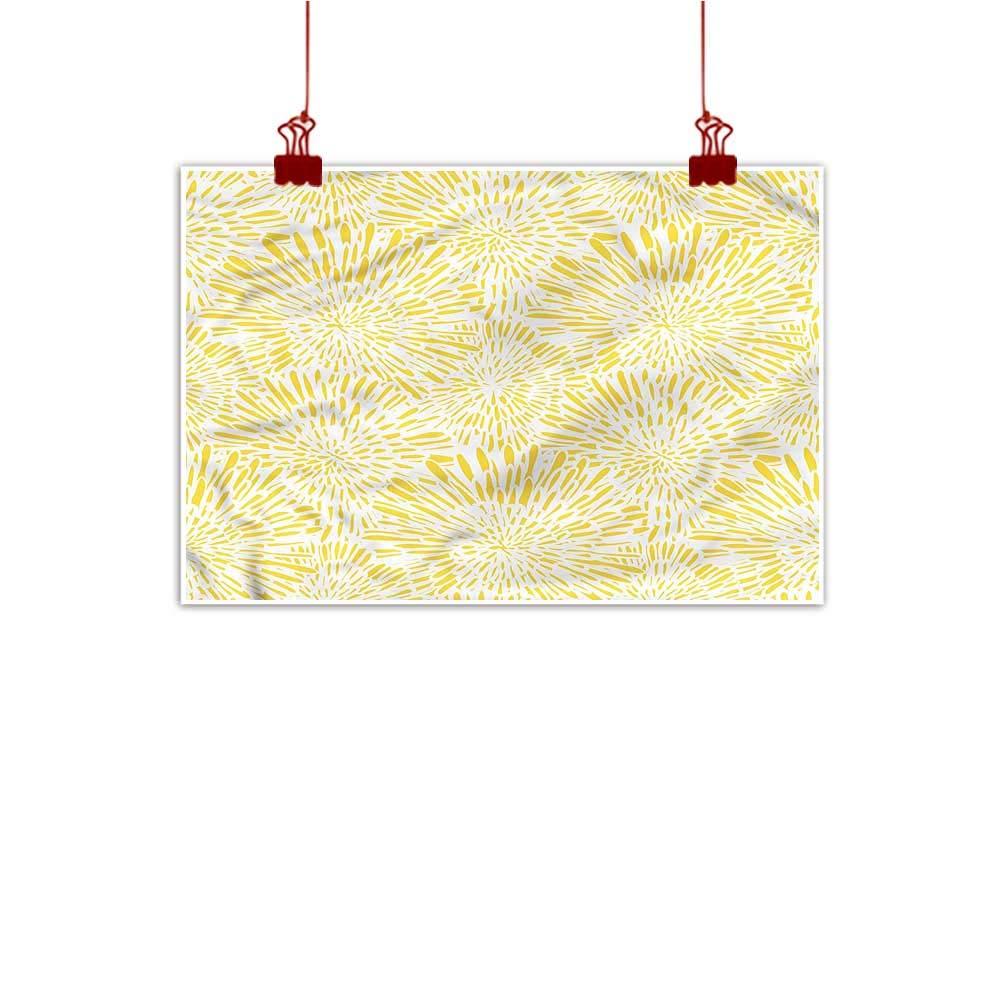 color09 24 x20  (60cm x 50cm) Mangooly Fabric Cloth Rolled Yellow Mandala,Ukrainian Culture for Boys Room Baby Nursery Wall Decor Kids Room Boys Gift