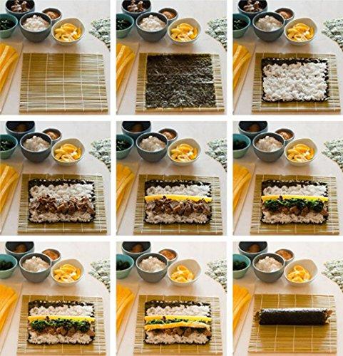 Malloom Bamboo Sushi Mat Onigiri Rice Roller Rolling Maker Kitchen Japaness Food by MALLOOM (Image #2)